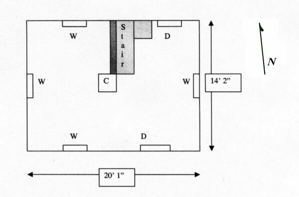 Loudoun Valley Archaeology Demory house plan sketch