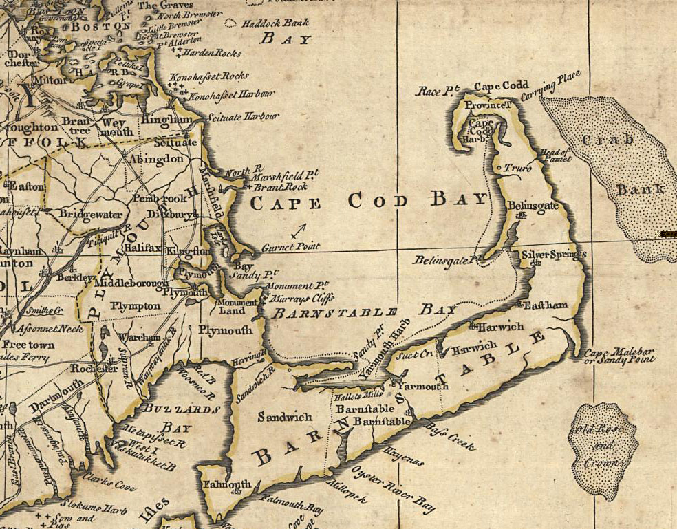 Maps of Plymouth Colony 1776 Map of New England by C Bowles