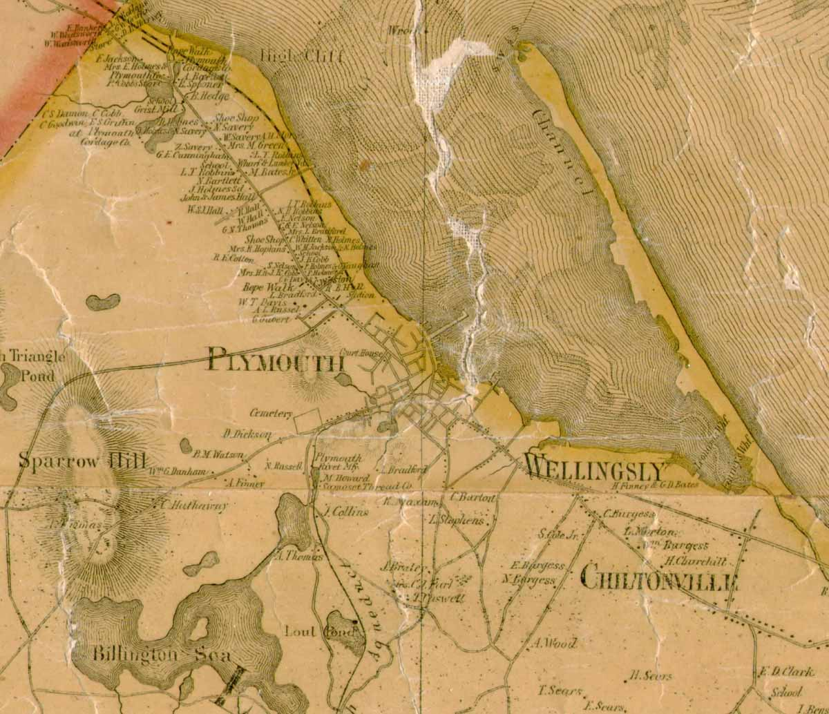 1857 Map of Plymouth