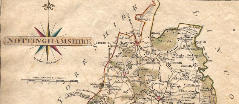 Scrooby map