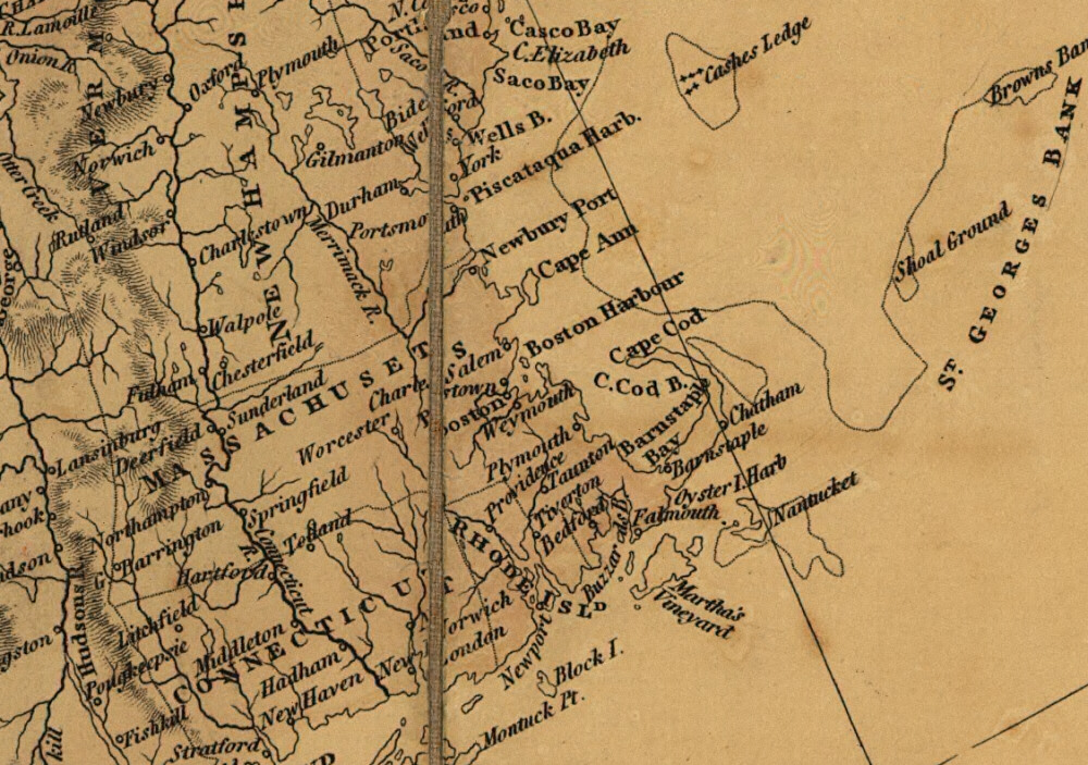 1795 Map of North America