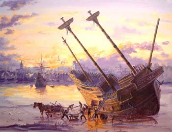 Mayflower's end, 1624 on the Thames,