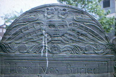 early death's head gravestone style